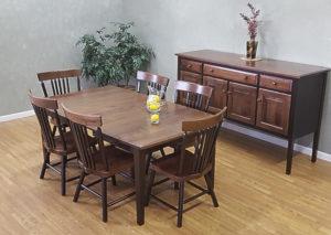 Shaker walnut extension table