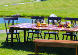 walnut hardwood heartwood and sap wood extension table