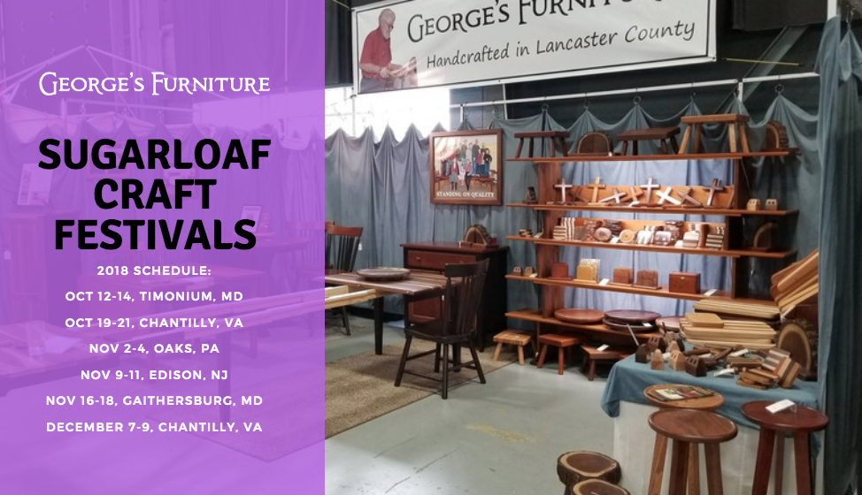 George's Furniture featured at Sugarloaf's fall crafts shows