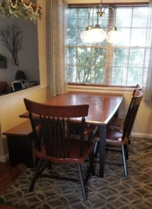cherry table with black stain handcrafted furniture in lancaster design our own furniture york