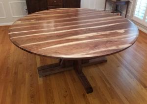 round split pedestal extension table